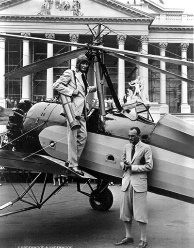 Hiram Bingham im Flugzeug