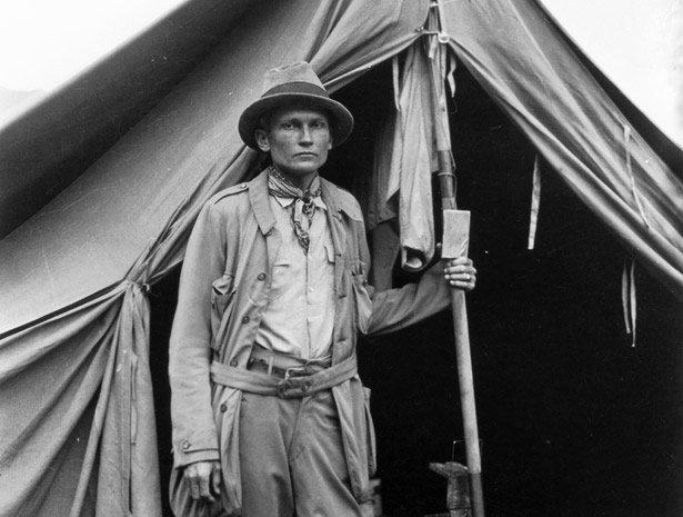 Hiram Bingham am Basislager Machu Picchu