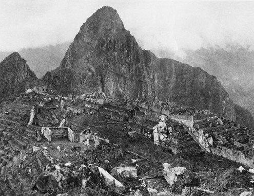 Ruinen Machu Picchu im Jahr 1911