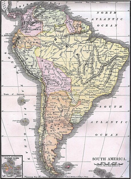 Südamerika, als Bingham es bereiste