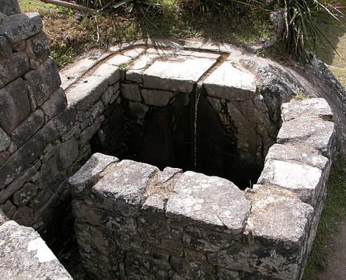 Brunnen Machu Picchu