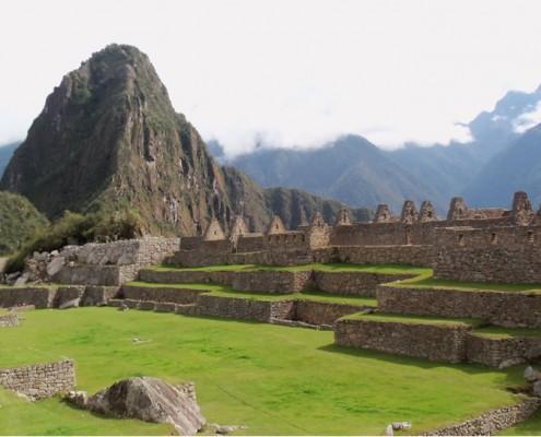 Der Hauptplatz von Machu Picchu