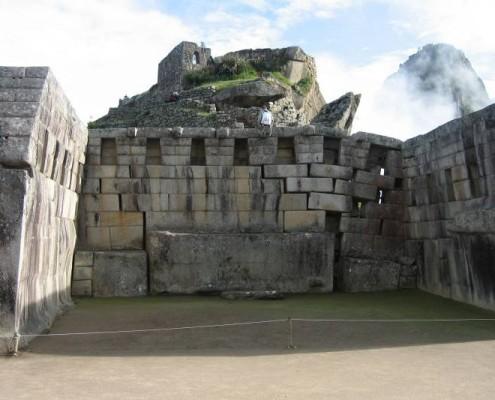 Der Haupttempel von Machu Picchu