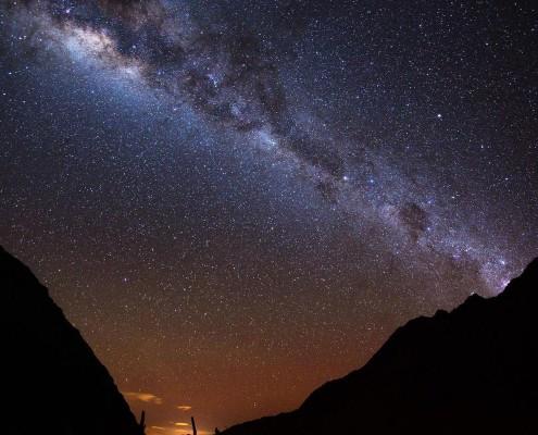 Nachthimmel über Machu Picchu
