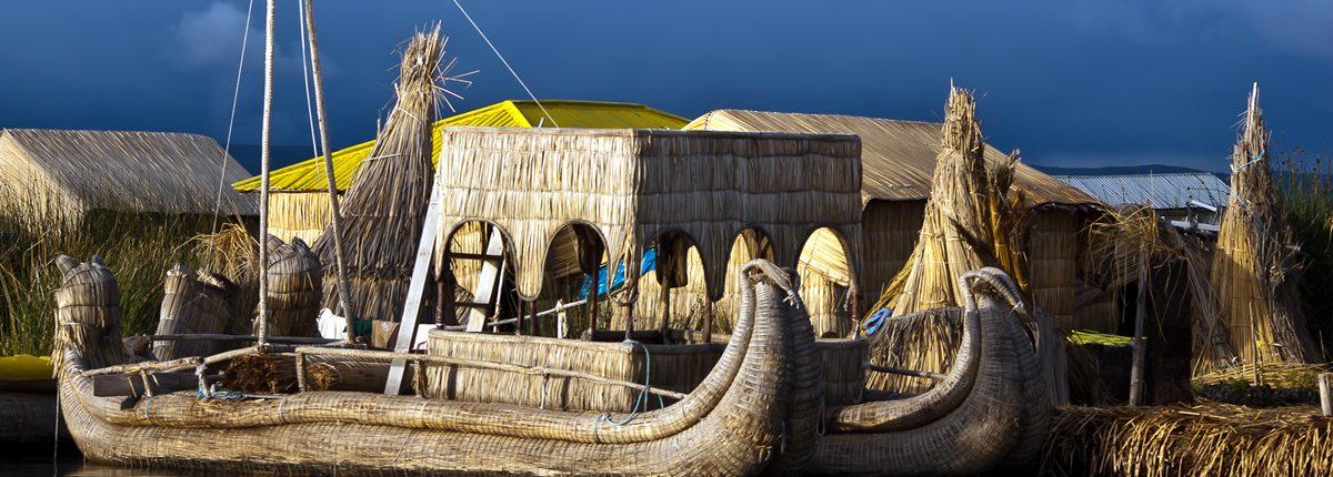 Peru Puno auf dem Titicacasee