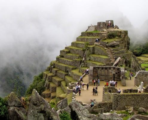 Die Intihuatana-Pyramide in Machu Picchu