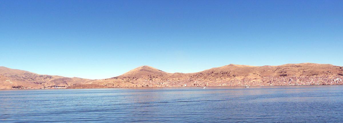 Titicacasee Blick von Puno