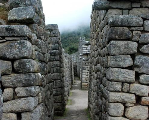 Wohnhäuser in Machu Picchu