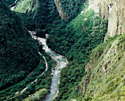 Urubamba Fluß Machu Picchu