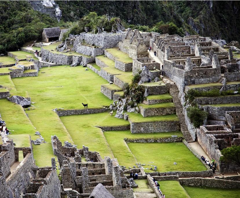 Machu Picchu Blick ins Zentrum