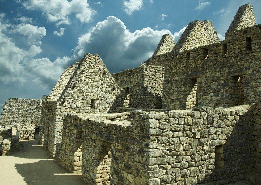 Machu Picchu Blick auf Gebäude