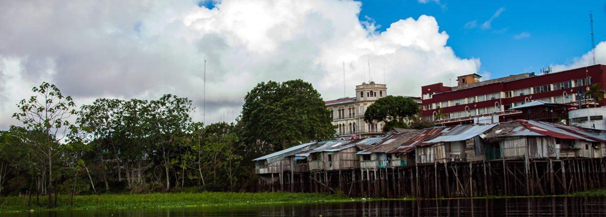 Fluss Itaya banando Iquitos