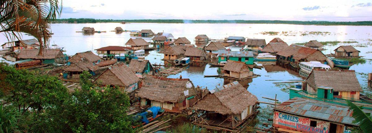Schwimmende Häuser Iquitos