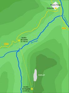 Karte der Seilbahn nach Kuelap