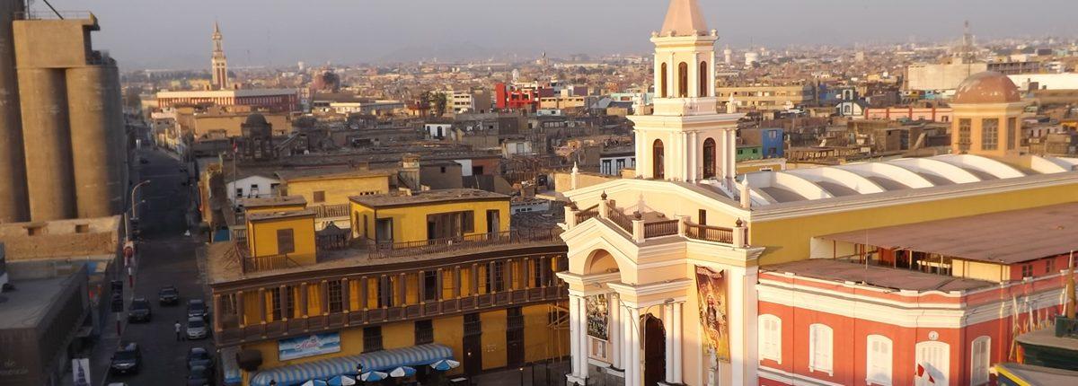 Vista aérea de la Iglesia Matriz del Callao