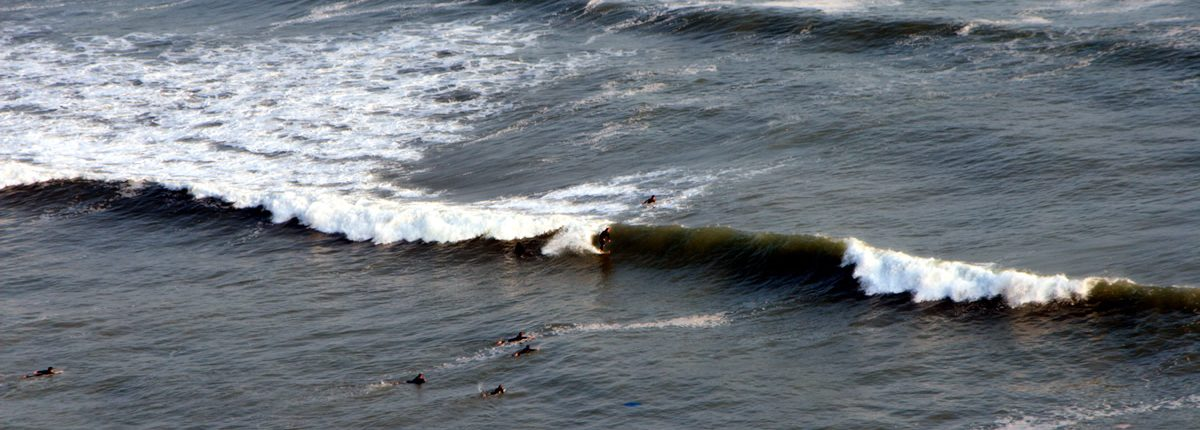 Surfers in Miraflores Lima