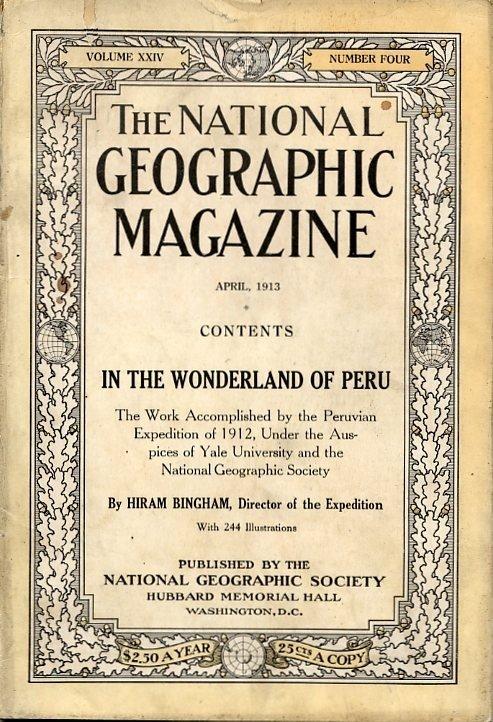 National Geographic Magazin Machu Picchu Peru