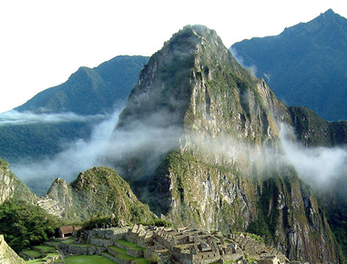 Aufstieg zum Gipfel Huayna-Picchu