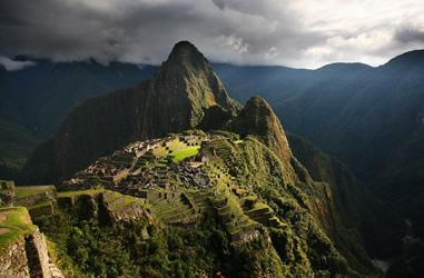 Blick auf die Inka Stadt