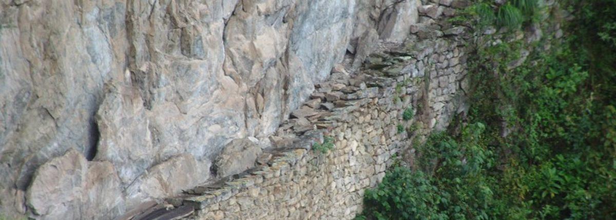 Inca Trail am Berghang