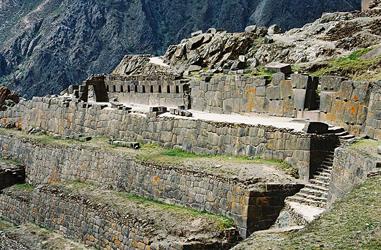 Inka-Ruinen bei Ollantaytambo