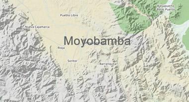 Karte Moyobamba Peru