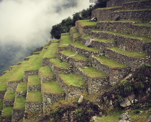 Perfektes Fundament in Machu Picchu