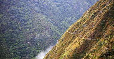 Wanderer auf dem Pfad nach Machu Picchu