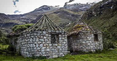 Hütten in der Cordillero-Region