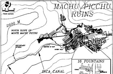 Karte der Brunnen