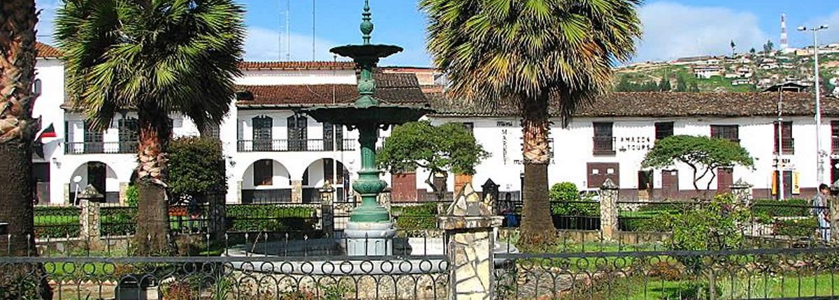 La plaza de armas de Chachapoyas