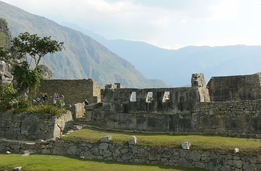 Tempel 3 Fenster Machu Picchu