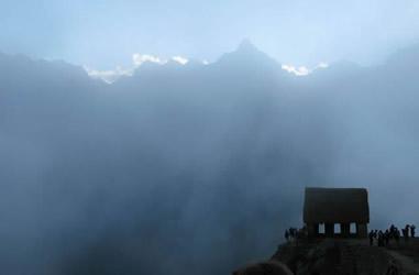 Wachhäuschen auf Bergspitze