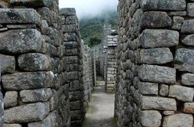 Wohnäuser in Machu Picchu