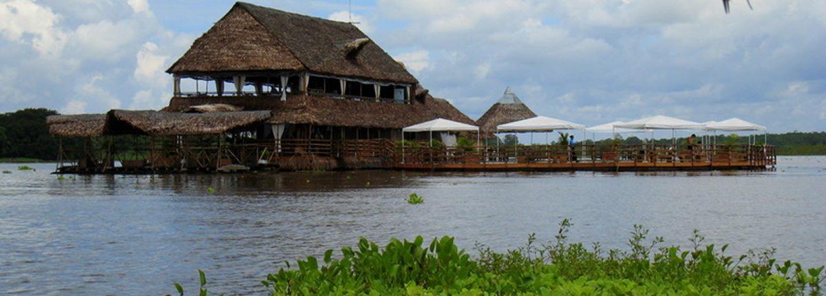 Restaurant auf dem Amazonas Iquitos