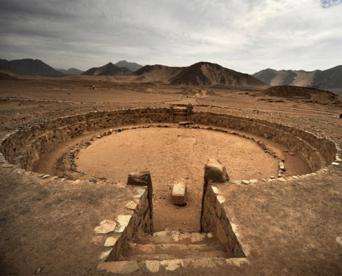 Amphitheater in Caral