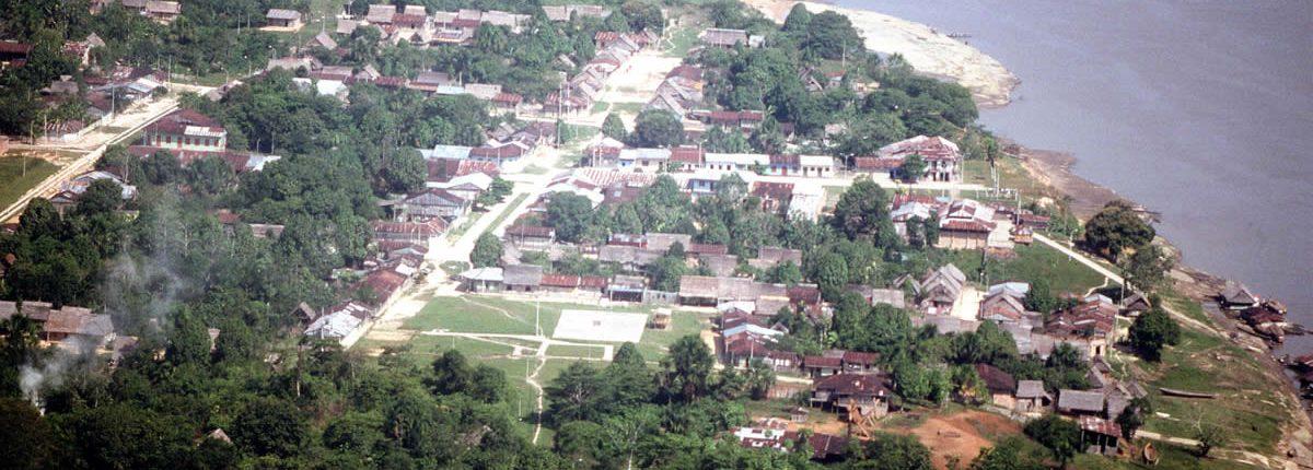 Blick auf Iquitos und den Amazonas