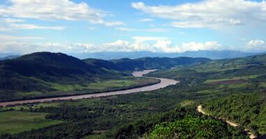 Tarapoto Blick uaf den Rio Cumbaza