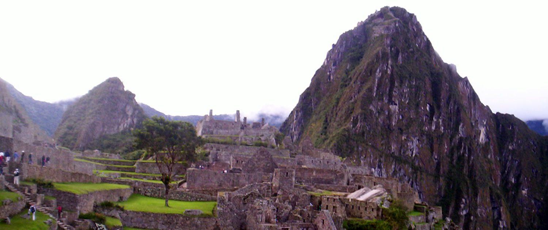 Terrassenblick Machu Picchu