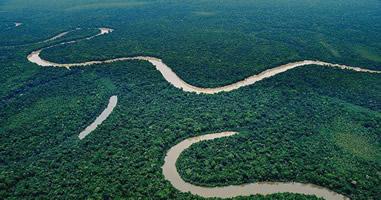 Blick auf Reservat Yaguas