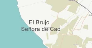 Karte Anreise El Brujo und La Dama de Cao Peru