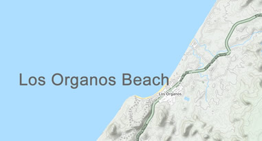 Los Organos Beach Peru Karte