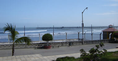 Pacasmayo Blick auf Strand