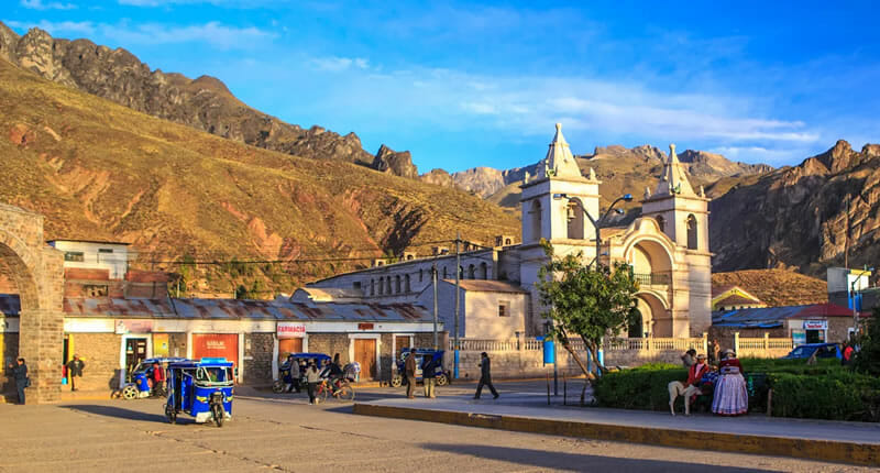 Chivay in Peru