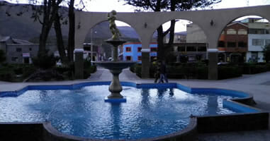 Chivay Plaza Fountain
