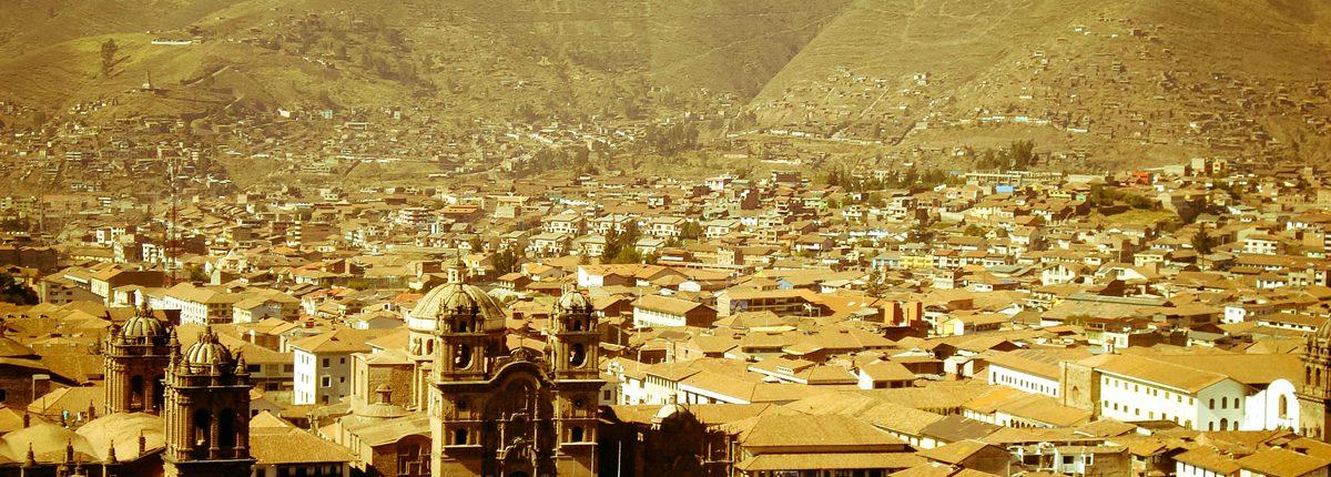 City Cuzco Blick von oben