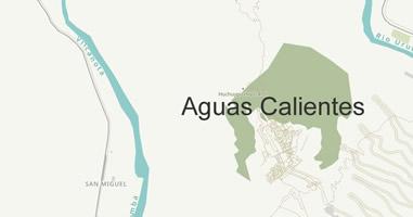 Karte Anreise Agua Calientes