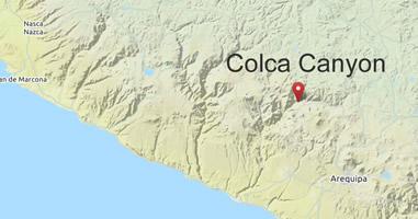 Karte Anreise Colca Canyon