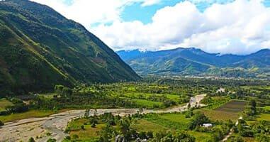 Blick auf Oxapampa Peru
