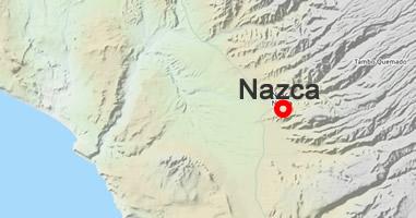 Karte Anreise Nazca